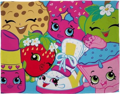 "Shopkins ""Trolley"" Character Fleece Blanket Snuggle Throw"